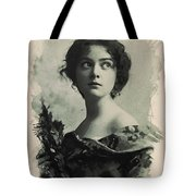 Young Faces From The Past Series By Adam Asar, No 82 Tote Bag