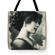 Young Faces From The Past Series By Adam Asar, No 85 Tote Bag