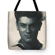 Young Faces From The Past Series By Adam Asar, No 94 Tote Bag