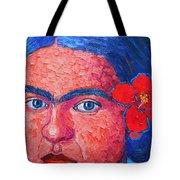 Young Frida Kahlo Tote Bag
