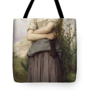 Young Girl, By William-adolphe Bouguereau Tote Bag