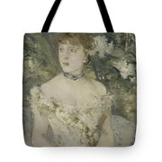 Young Girl In A Ball Gown By Berthe Morisot Tote Bag