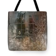 Young Girl Sitting At Window Tote Bag