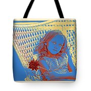 Young Girl With Blue Eyes Tote Bag