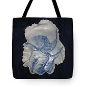 Young Girl With Decoration Tote Bag