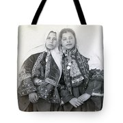 Young Girls Of Bethlehem Year 1896 Tote Bag