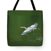 Young Great Blue Heron Taking Flight Tote Bag