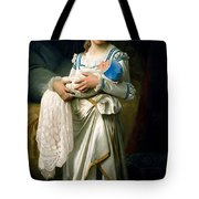 Young Lady And The Baby Tote Bag
