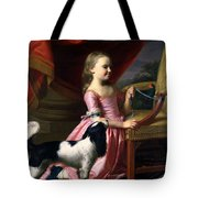 Young Lady With A Bird And A Dog Tote Bag
