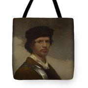 Young Man In A Fur Cap Tote Bag