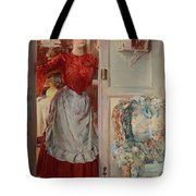 Young Man On A Door French Room, Emilio Tote Bag