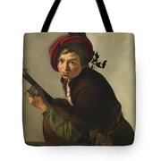 Young Man Playing Tote Bag