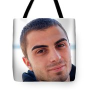 Young Man Portrait Tote Bag
