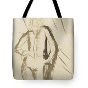 Young Man Standing Face Tote Bag