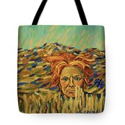 Young Man With A Corn Flower Tote Bag