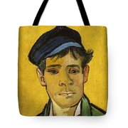 Young Man With A Hat Tote Bag