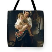 Young Mother Gazing At Her Child Tote Bag