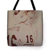 Young Nfl Montana Tote Bag