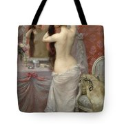 Young Nude Woman Styling In An Interior Tote Bag