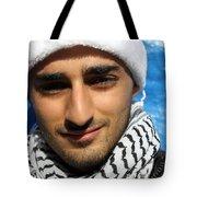 Young Palestinian Man Tote Bag