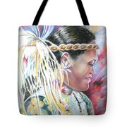 Young Polynesian Mama Tote Bag