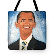Young President Obama Tote Bag