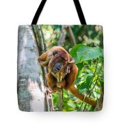 Young Red Howler Monkey Tote Bag
