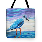 Young Seagull Coastal Abstract Tote Bag