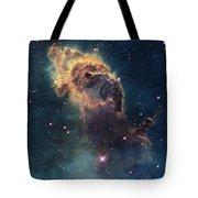 Young Stars Flare In The Carina Nebula Tote Bag