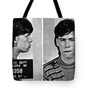 Young Steven Tyler Mug Shot 1963 Pencil Photograph Black And White Tote Bag