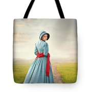 Young Victorian Woman On A Country Path Tote Bag