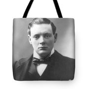 Young Winston Churchill Tote Bag