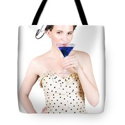 Young Woman Drinking Alcoholic Beverage Tote Bag
