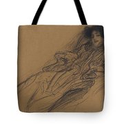 Young Woman In An Armchair Tote Bag
