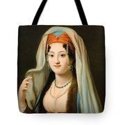 Young Woman In Traditional Ottoman Clothes Tote Bag