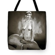 Young Woman Nude 1729.575 Tote Bag