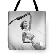 Young Woman Waving Scarf, C.1950-60s Tote Bag
