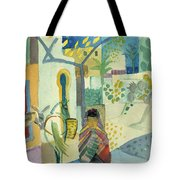 Young Woman With A Horse And A Donkey Tote Bag