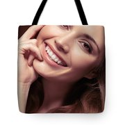 Young Woman With A Natural Smile Tote Bag
