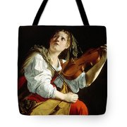 Young Woman With A Violin Tote Bag