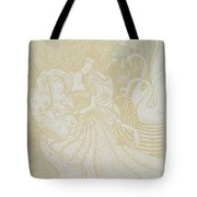 Young Woman With Butterfly Tote Bag