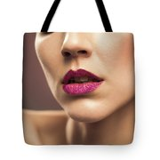 Young Woman With Flawless Makeup Tote Bag