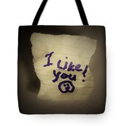Your 1st Love Note Tote Bag
