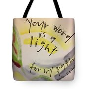 Your Word Is A Light Tote Bag