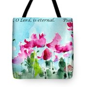 Your Word O Lord Tote Bag by Anne Duke