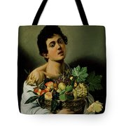 Youth With A Basket Of Fruit Tote Bag by Michelangelo Merisi da Caravaggio