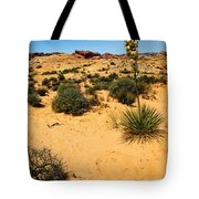 Yucca And Desert Primrose In The Valley Of Fire Tote Bag