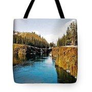 Yukon River And Miles Canyon - Whitehorse Tote Bag