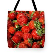Yummy Fresh Strawberries Tote Bag