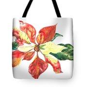 Yupo Poinsettia Tote Bag